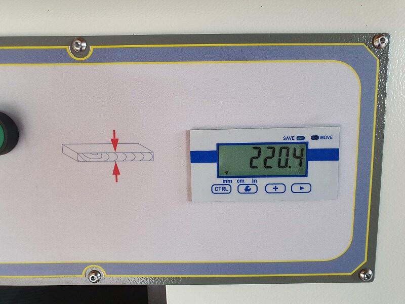 afisaj digital Masina de ringeluit la grosime RG 63 Wood IQ