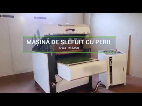 masina de slefuit cu perii spa 3 wood iq video thumbnail